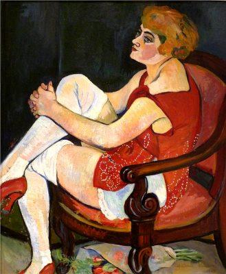 #SuzanneValadon  Woman in white stockings (1924)