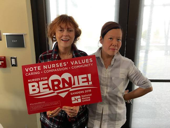 Please enjoy this photo of me and Susan taken by a NURSE back in 2016. #MedicareForAll. We think so.
