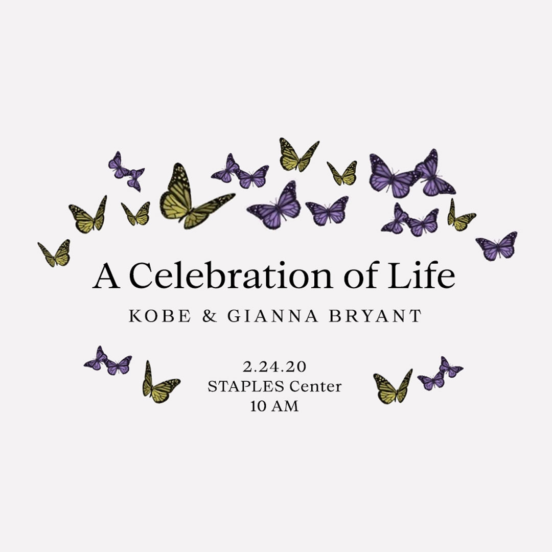 We kindly ask that all fans without a ticket to Monday's Celebration of Life for Kobe & Gianna Bryant to please stay home and watch with family and friends. The Celebration of Life will not be shown on screens outside of STAPLES Center or L.A. LIVE.