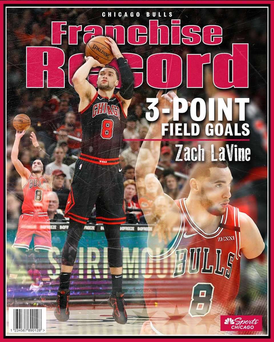 .@ZachLaVine now holds the #Bulls record for most 3-pointers in a season 👏👏👏