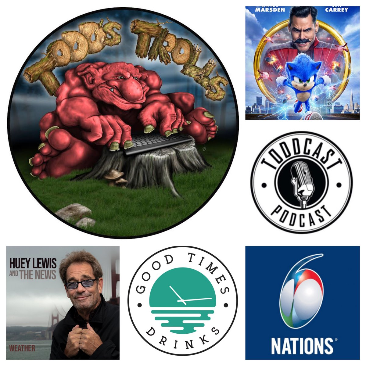 """#HueyLewisAndTheNews, #SonicTheHedgehogMovie & #SixNationsRugby have targets on their backs in the latest """"Todd's Trolls"""". No one & nothing is safe. http://ow.ly/KpXH30qgbS6* Powered by @DrinkGoodTimes - Putting the GT's back in the G & T!"""