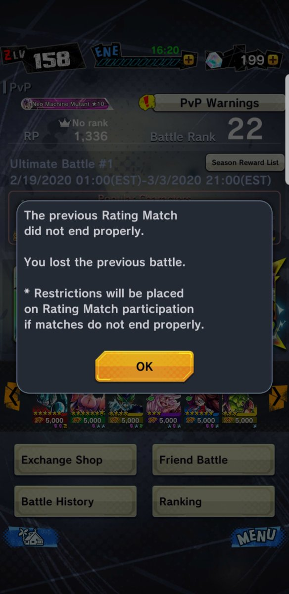 @BandaiNamcoUS @DB_Legends #dragonballlegends You're game.crashed, Again!? So like we a multi million dollar company and cant fix this issue? Get your shit together...pic.twitter.com/17DNBDag4X