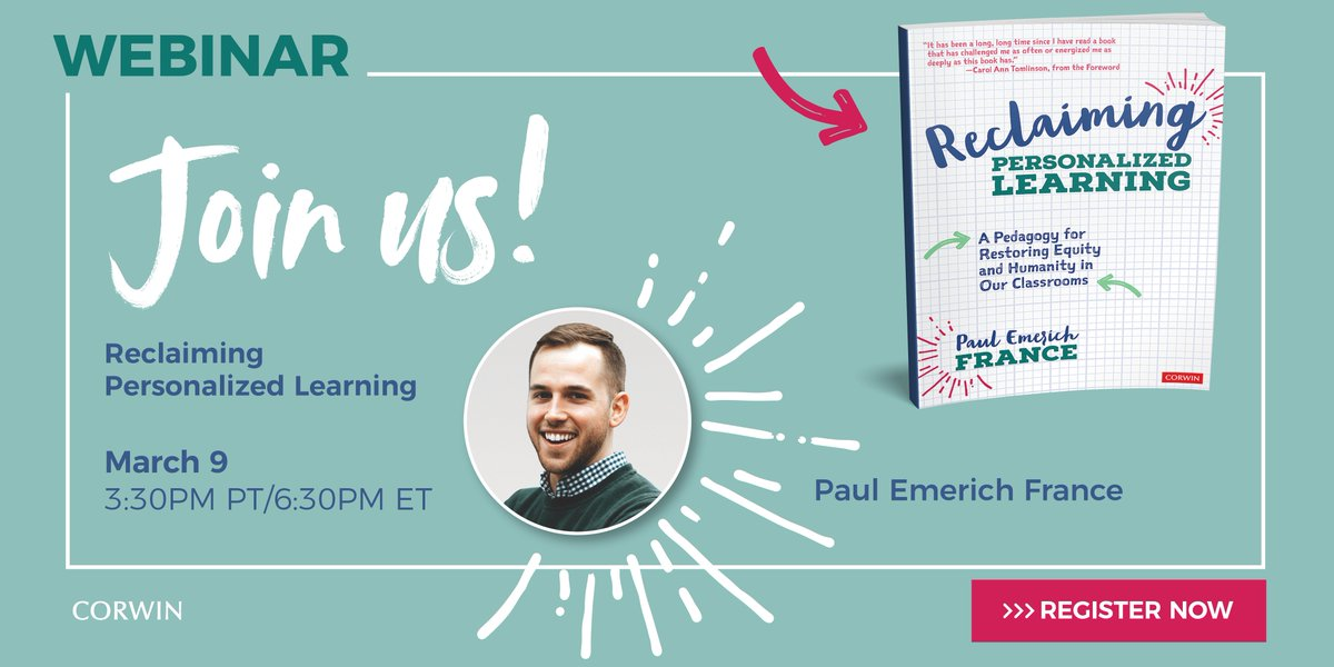 "Join us for a webinar on ""Reclaiming Personalized Learning"" on March 9th. Register here:   #edchat #edtech #learnlap #tlap   @don1lee @zilkerphillips @redmondcarol @ebliterate @pinkbikes1 @eduk8me @Principal_Sylli @danicreamer23 @MrBedford2 @KaylaS_Day"