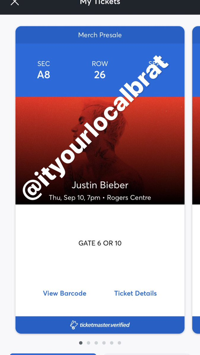 TORONTO JUSTIN BIEBER fans, @ityourlocalbrat  is selling TWO pairs of FLOOR tickets to the show on September 10th! #ChangesTour