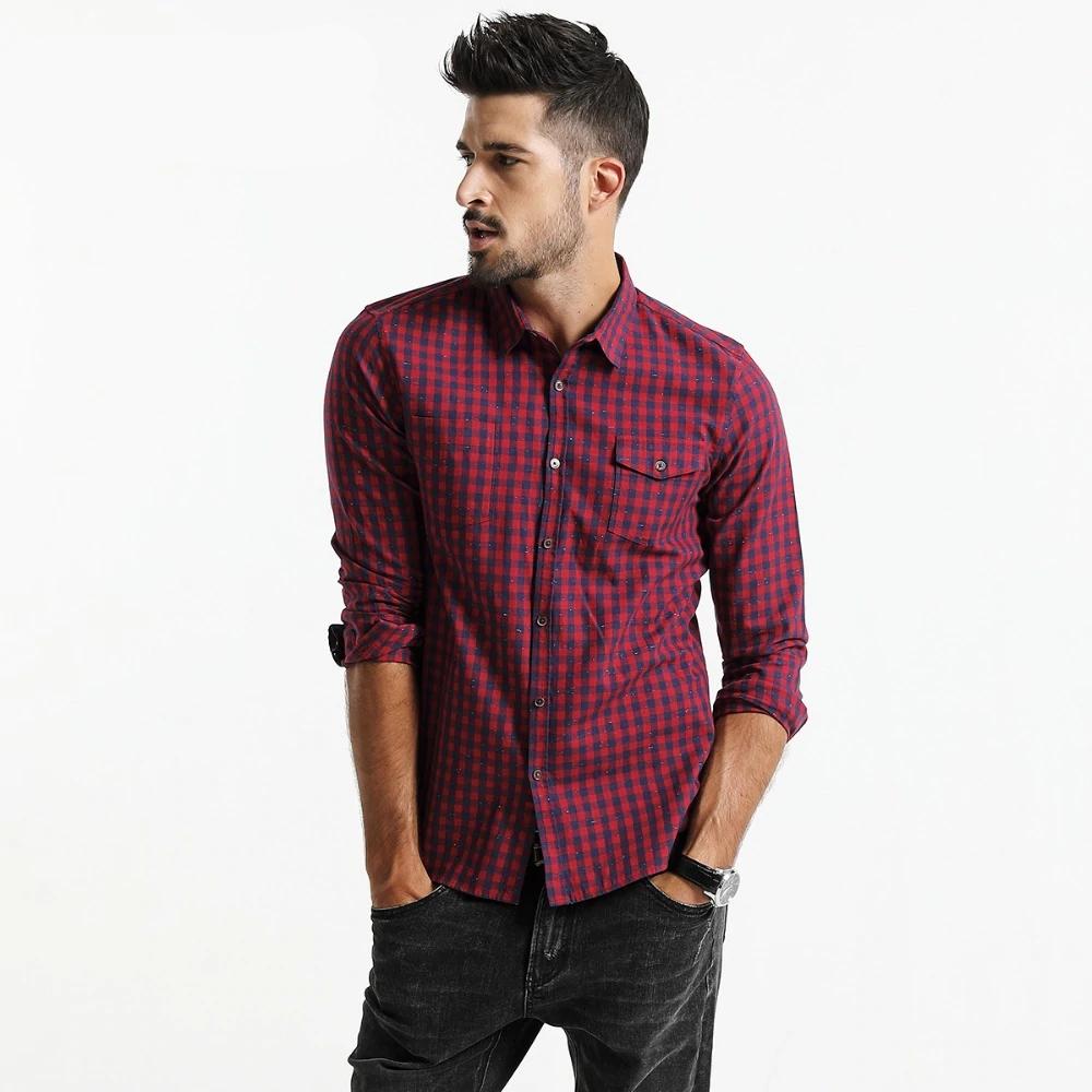 #makeup #bestoftheday Men's Fashion Plaid Cotton Shirt