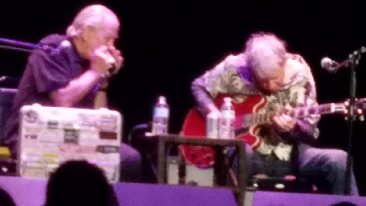 Enchanted  with Elvin Bishop abs Charlie Musselwhite tonight.  God, I love the blues.