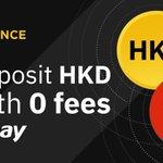 Image for the Tweet beginning: #Binance Opens Hong Kong Dollar