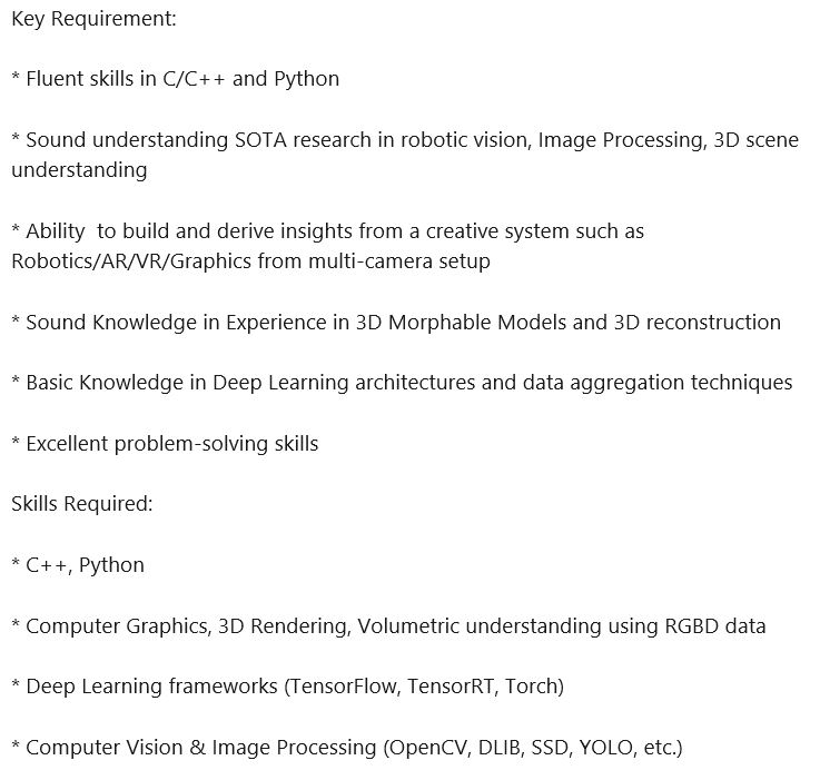 Jio is hiring for Interns/Datascientists/Sr. Data Scientists/Data Engineers for Computer Vision Group,  Jio AI Centre of Excellence, #Hyderabad.   Interested candidates kindly send your resume at abhinav2.anand@ril.compic.twitter.com/v1KwH43lHt