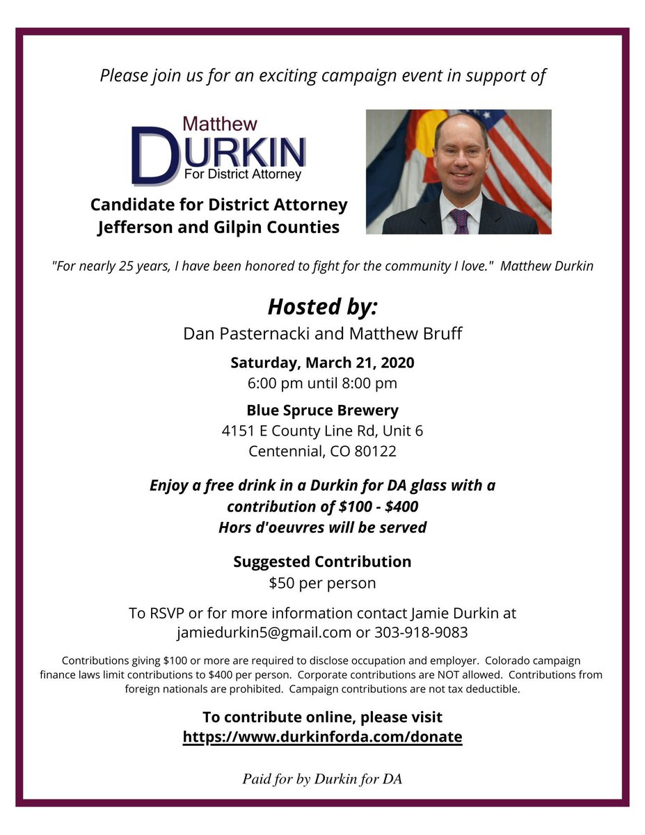 Please join us on March 21, 6-8p, at the Blue Spruce Brewery, 4151 E. County Line Rd.  Thank you Dan Pasternacki and Matthew Bruff! pic.twitter.com/R1rSZp2g1w