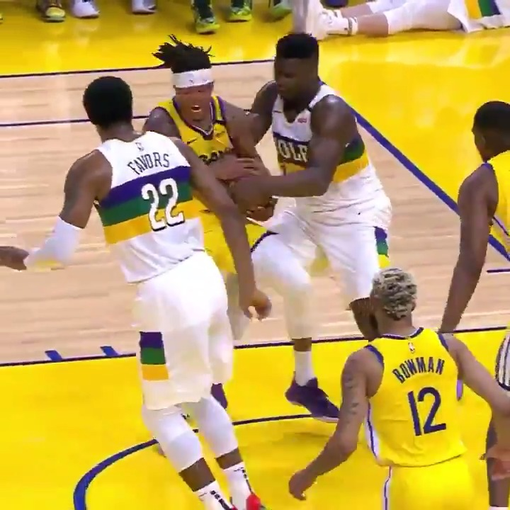 ZION IS BULLYING THE WARRIORS 😳