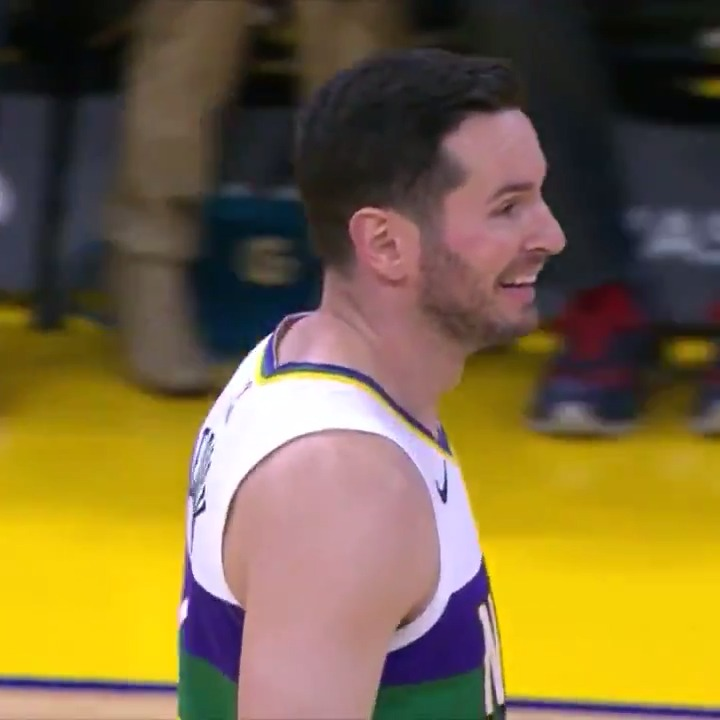 Replying to @shaqtin: JJ Redick's three-point attempt had everyone surprised 😅  #Shaqtin