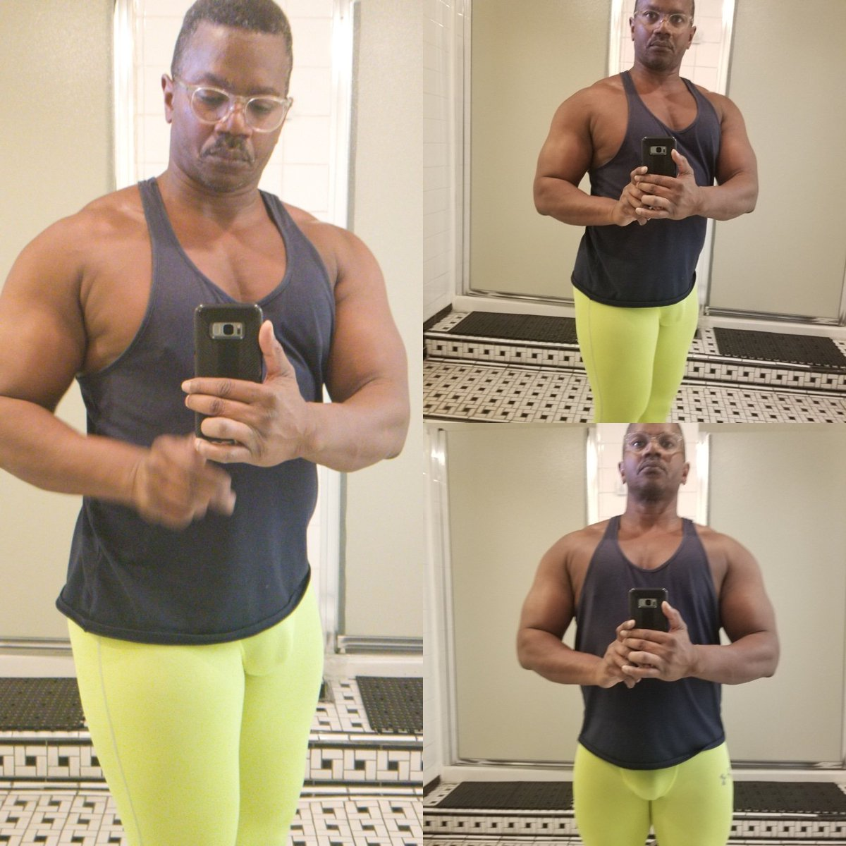 Shoulders coming along.  #muscle  #Bodybuilder  #gear  #spandex  #tights  #gymrat  #bodybuilding  #traps  #shoulders  #delts