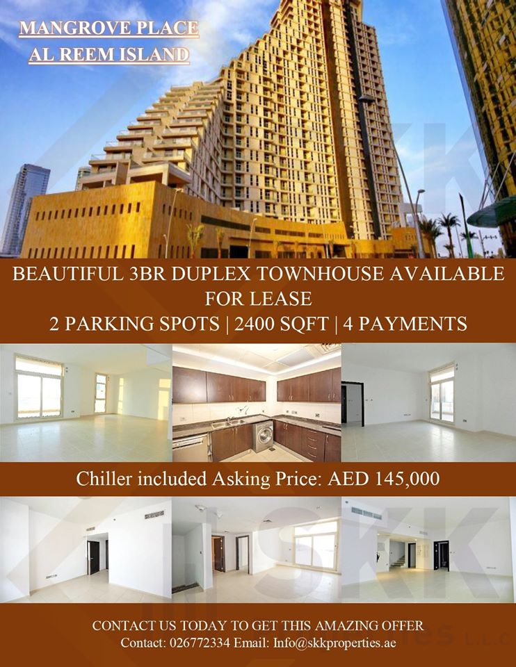 Contact us to get this amazing deal.  Call : 026772334 Email: info@skkproperties.ae  #UAE #abiduabi #Properties #Apartments #Spaciousrooms #Good #Community  #skkproperties  #Viewings  #towers #park #canal #parks #almarasy #albateenabudhabi #marinamall #alreemisland #mangroveplace https://t.co/jHOm6UokqK