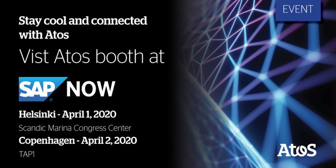 Eager to learn about Atos' capabilities within the Intelligent Enterprise? Visit our booth...