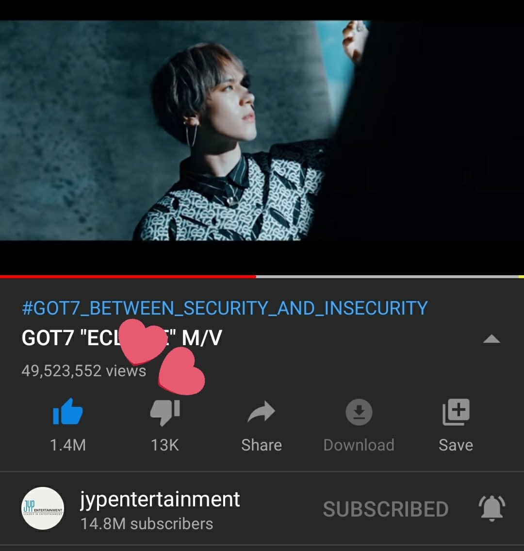 Guys, we're so close to 50M. So please spin harder so that ECLIPSE can reach 50M. #GOT7 #GOT7KEEPSPINNING #GOT7_BETWEEN_SECURITY_AND_INSECURITY #IGOT7 #Aghase #GOT7_KEEPSPINNING #Eclipse  @GOT7Official #갓세븐 ECLIPSE (GOT7) :  https:// youtu.be/6tl-MG38-0E     <br>http://pic.twitter.com/zmNZfpXWKV