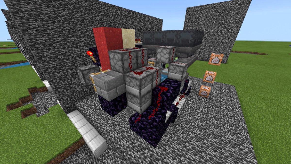 命名: 統合三十式DHCC型9T/5Dジ半没式前自動L字砲 横幅5マスに抑えれたァァァ! 装薬と弾頭の数の制御装置にはDHCC(ダブル・ホッパー・カウンター・クロック)を使ってます ホッパーカウンター回路には、えびちりさんが紹介していたやつを使ってますo(`・ω´・+o)   #マイクラ #Minecraft #軍事部pic.twitter.com/ZV0YuKGTuX