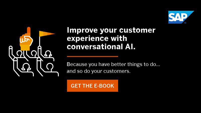 Transform customer experience with #AI-powered chatbots.   Explore the @SAP_CX + conversational AI e-book: http://sap.to/60101Ympp
