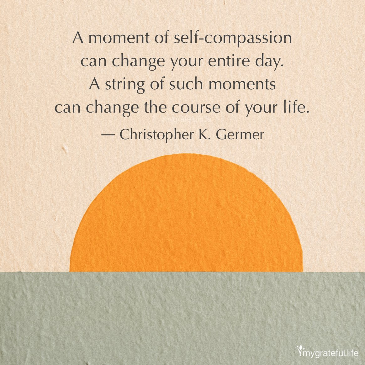 "In line with today's inspiration is remembering to go easy on yourself and take a pause when you need one. Life is about creating a #balance on your journey. ""If your #compassion does not include yourself, it is incomplete."" ― #JackKornfield - #mygratefullife"