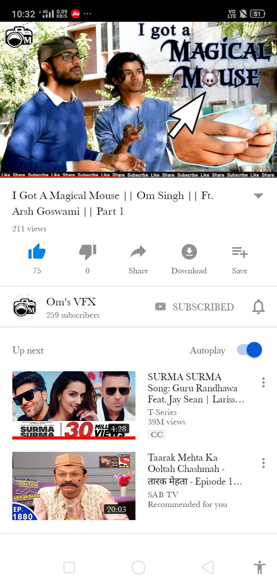 """Hey😇 guys there is page on youtube """"om's vfx"""" they are really uploading mindblowing video soGo and watch ...magic of magical mouse .. I am sure u will enjy dis ...😊😊 @YouTube @TwitterVideo  #mouse #vfx #editing #ForYourEyesOnly #magic #amazing"""