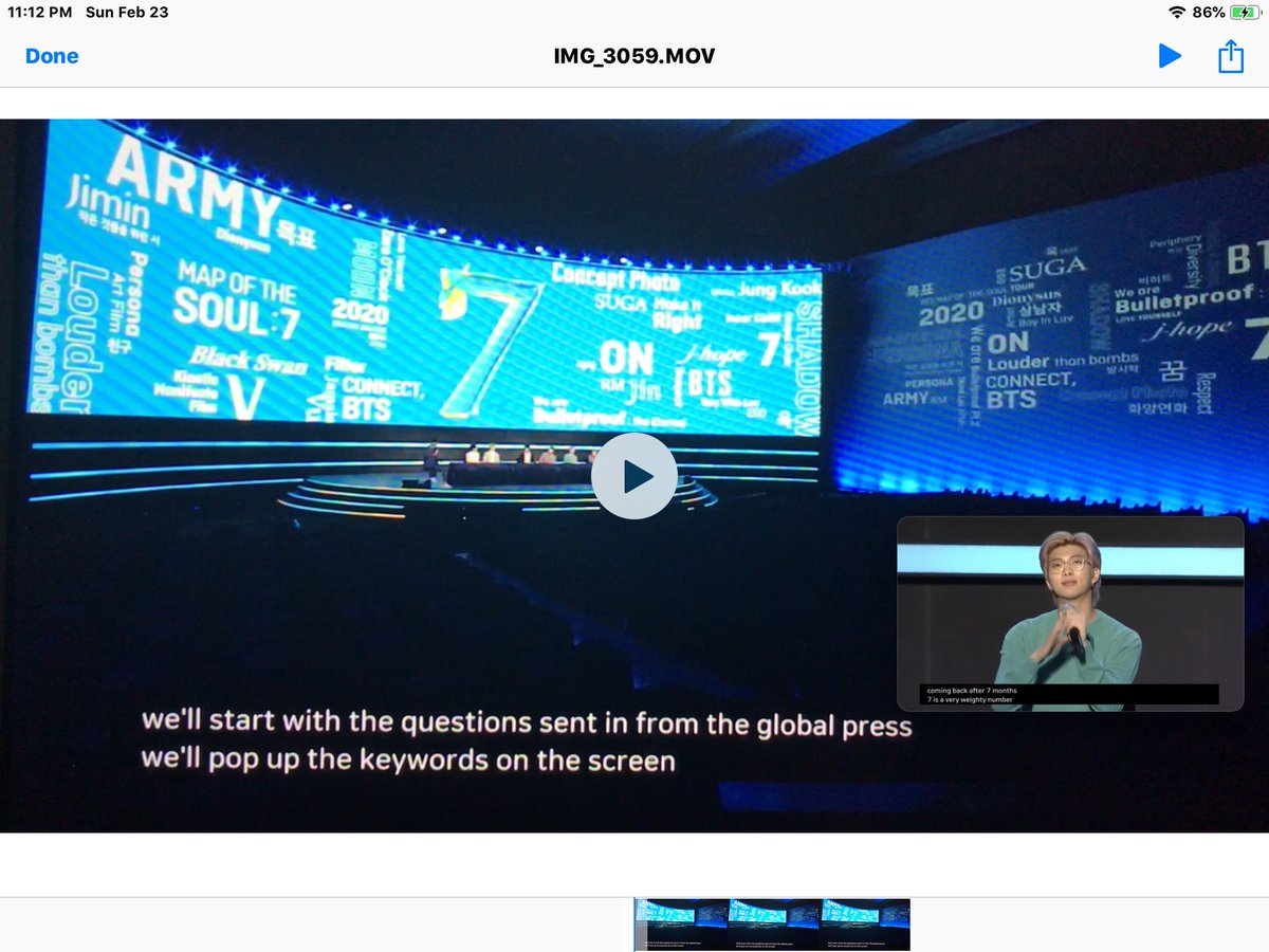 Live shot from the BTS MAP OF THE SOUL 7 Global Press Conference live streaming now to journalists in over 150 countries. BTS press conferences r simultaneously translated into English. Watch it now on YouTube live & see:  BTS making their Media Magic.  #BTS  #BTSARMY  #GRAMMYs