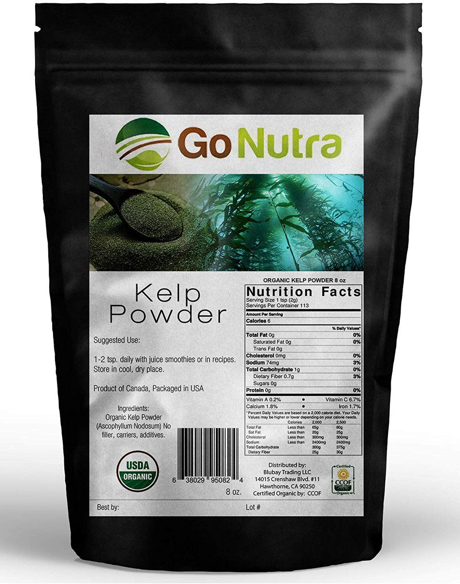 Organic kelp powder is a leading source of iodine, a trace mineral that is essential for healthy thyroid function. Try our Organic kelp powder!  #healthy #beachbody #sweating #followforfollow #crossfit #fit #superfood #fitfiance #noexcuses #grinding