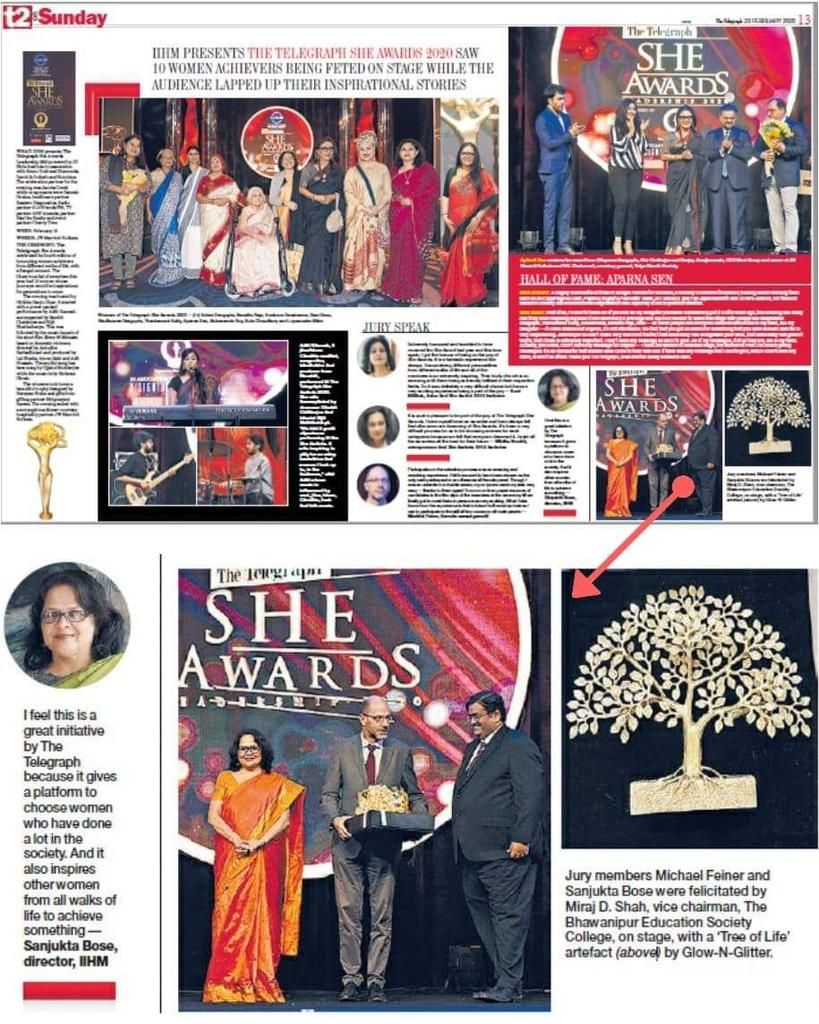 #TTSheAwards  #TTSheAwards2020   The Telegraph in association with IIHM sees the power of 'she' as each of the super champs is recognised for their contributions in different walks of life.  JW Marriott Hotel Kolkata   #iihmbest3years  #iihmhotelschools  #youth  @subornobose
