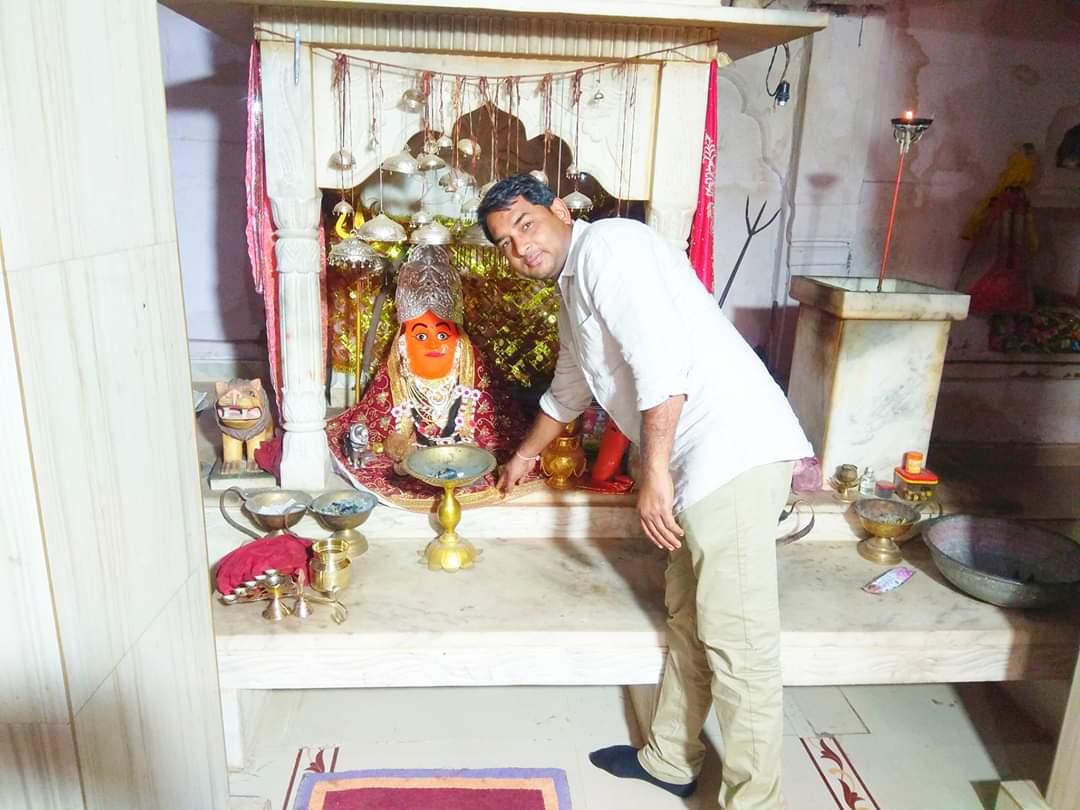 सुप्रभात....आज ग्राम पिलौदा(गंगापुर सिटी) में माँ लहकोड देवी के किये दर्शन...