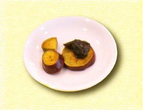 サツマイモのプルーン煮 オレンジ風味♪