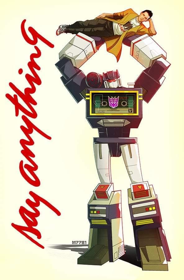 In an alternate universe.... #80s #johncusack #soundwave #Transformers #80smovies #sayanything