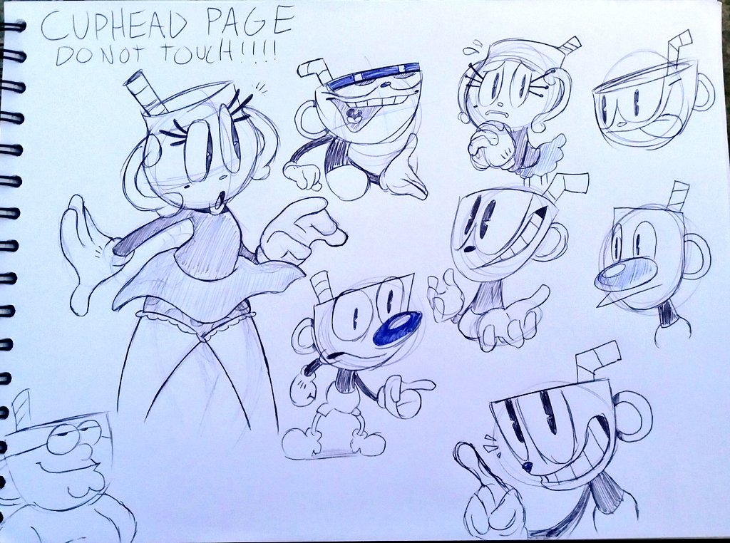 this is my cuphead page do not touch