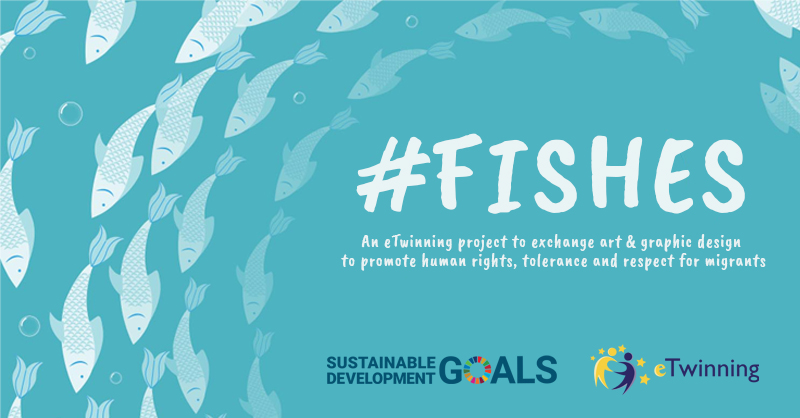 Were delighted to start an #eTwinning 🇪🇺 #VET project with @marias301 🇬🇷 & Maurice Medici 🇧🇪. #Fishes is a project to promote human rights, tolerance & respect for migrants through an artwork exchange, focusing on #SDGs Goal 16: Peace, justice & strong institutions #TeachSDGs