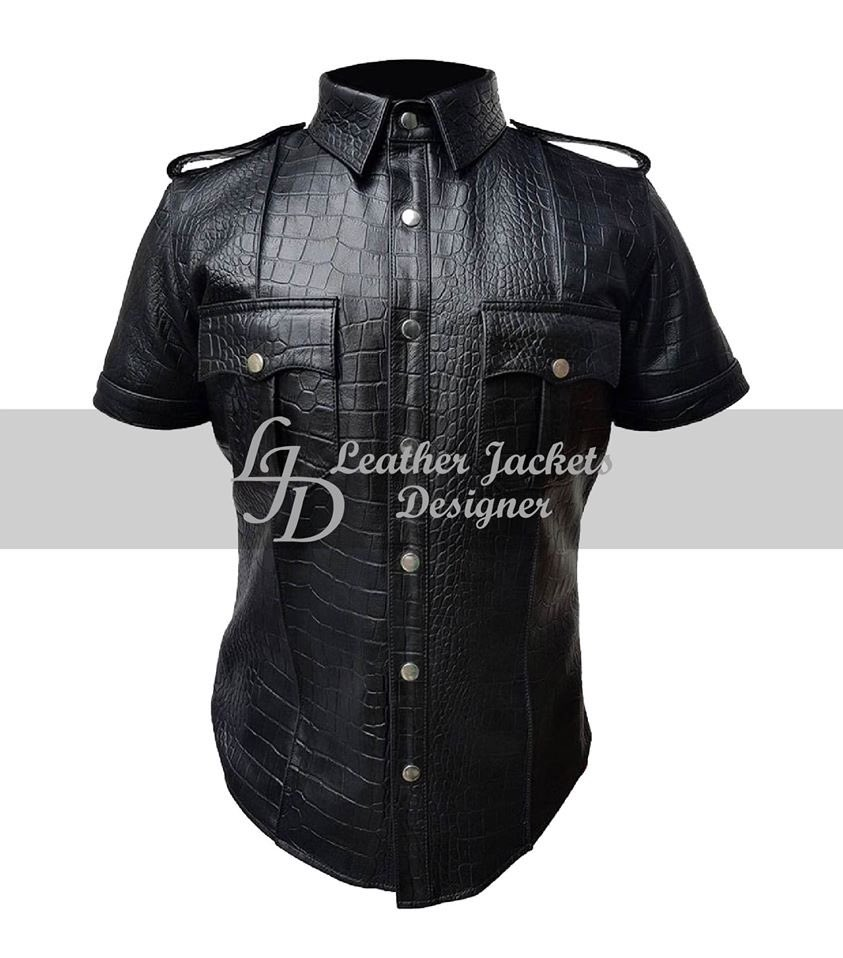 Black Men Police Uniform Crocodile Leather Shirt   100% Money-Back Guarantee  All Sizes Are Available  High-Quality Leather with Fine Stitching Throughout  #leatherjackets #jacket #mensfashion #mensjacket #fashionjackets #famousjackets #onlinestore #sale #shopping #LJDStorepic.twitter.com/wl3TPJNFff