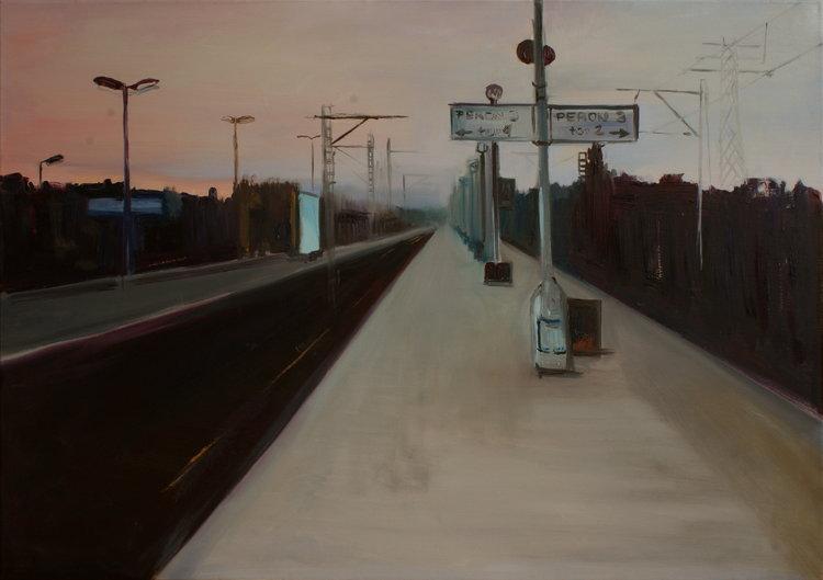 A Railway Impression V, 2008 by Polish painter Marta Zamarska #womensart   #MondayMorning <br>http://pic.twitter.com/61HienFBVk