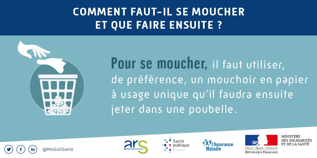 Petits conseils pour résister aux microbes de l'hiver par le ministère de la santé. #santé #conseil #prévention #Lormont #gestesbarrieres twitter.com/MinSoliSante/s…