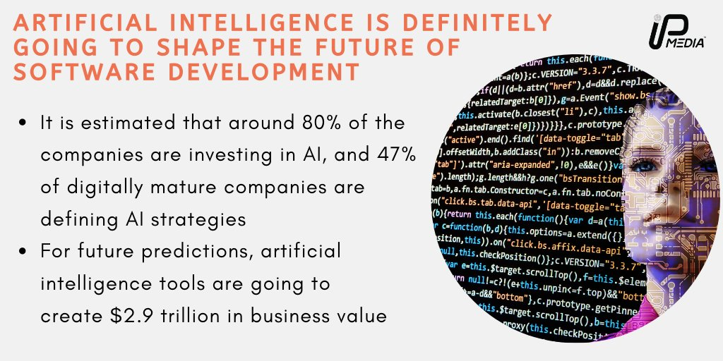 Businesses are getting more curious about AI technology. . #artificialintelligence #softwaredevelopment #softwaredevelopmentcompany #software #softwaredeveloper #softwareengineer #softwaredevelopmentteam #technologyblog #technologythesedays #techworld #technology #technologylover pic.twitter.com/JF5MORezXq