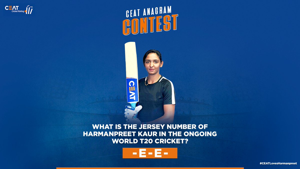 Wish to win an autographed bat by @ImHarmanpreet?   Answer the Question 👇, you could be the lucky one 🤩  Don't forget to tag 5 friends and reply with #CEATLovesHarmanpreet. Your TIME starts now. 😎  #Cricket #Contest #ContestAlert