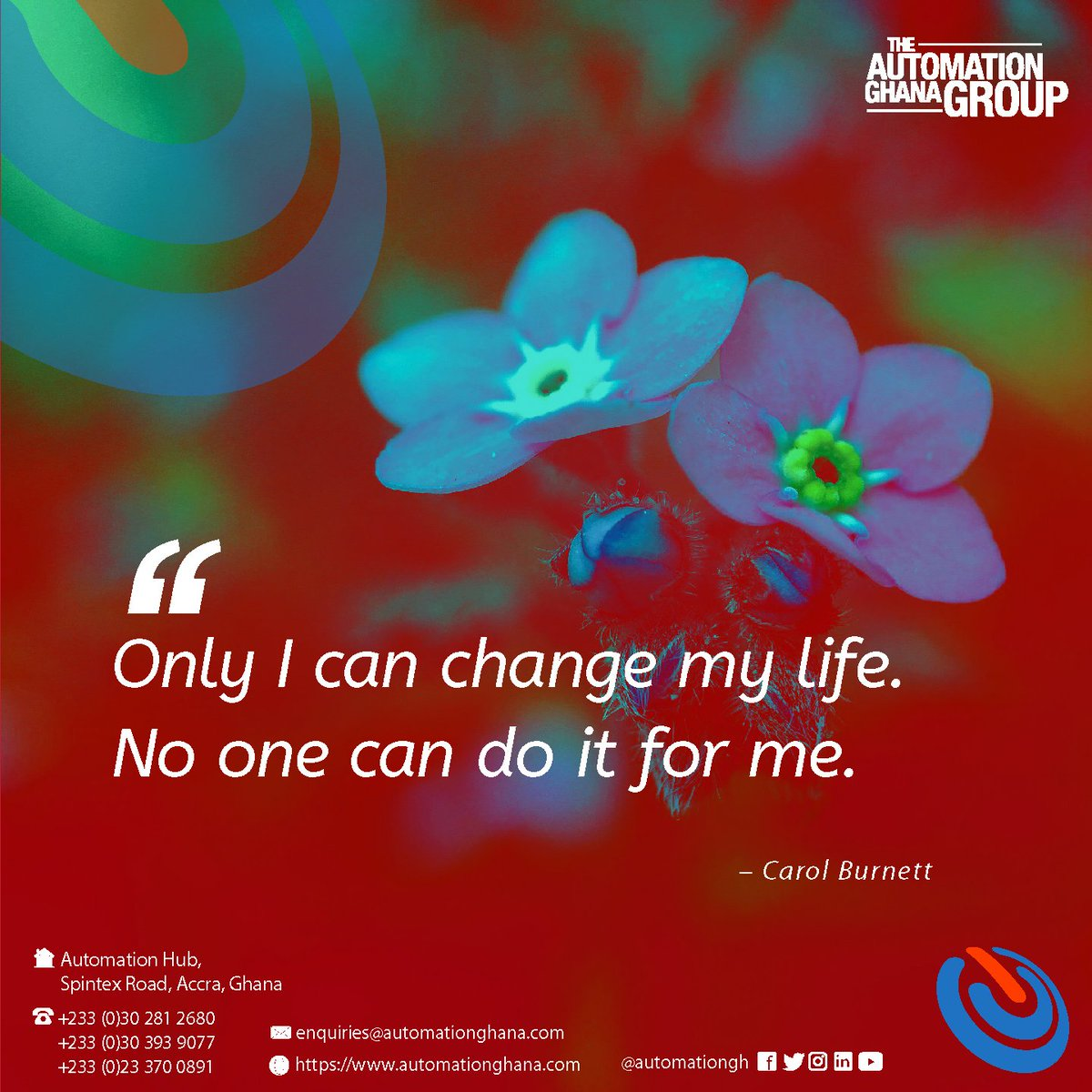 Just Remember; Only you can change your life#tagg #inspirationalquotes #smartsolutions pic.twitter.com/n6XinXY8uD