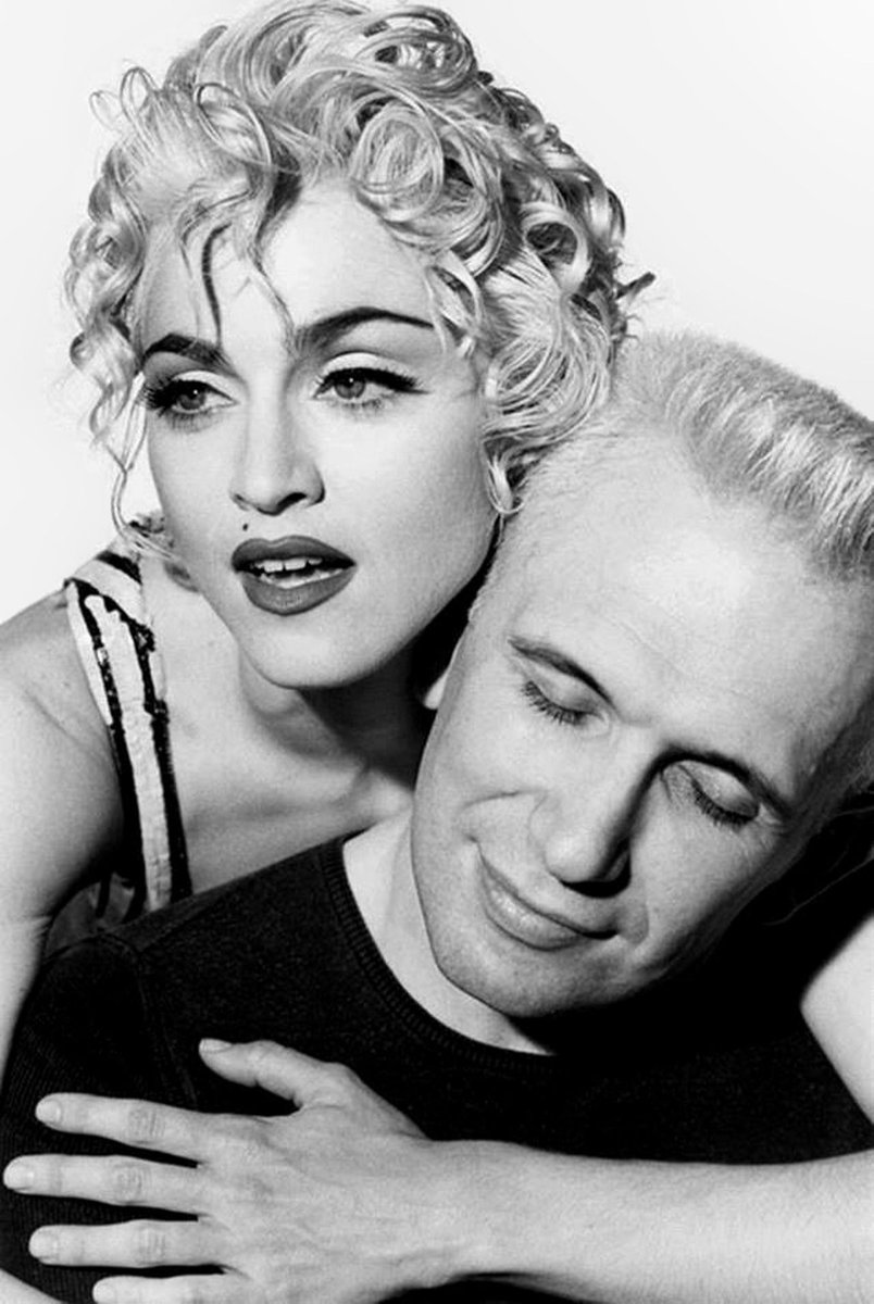 """Jean Paul Gaultier on Twitter: """"Loved since the very first time. @Madonna and #JeanPaulGaultier's romance immortalized in 1990 by @herbritts for @glamourmag. #Madonna… https://t.co/AoavkUI67T"""""""