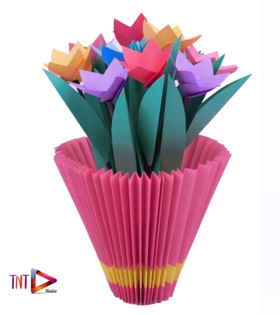 Origami Flower Pot Best Easy Learning Video | Paper Flower Box ... | 1080x960