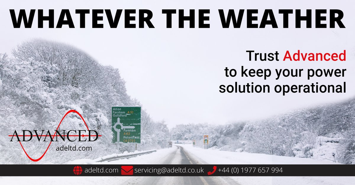 Whatever the #Weather. Trust Advanced to keep your #Power solution operational  Find out more: http://bit.ly/genset-service  #DieselGenerator #DieselGenerators #Generators #Service #Servicing #Repair #Maintenance #Support #MondayMotivation #snow #mondaythoughts