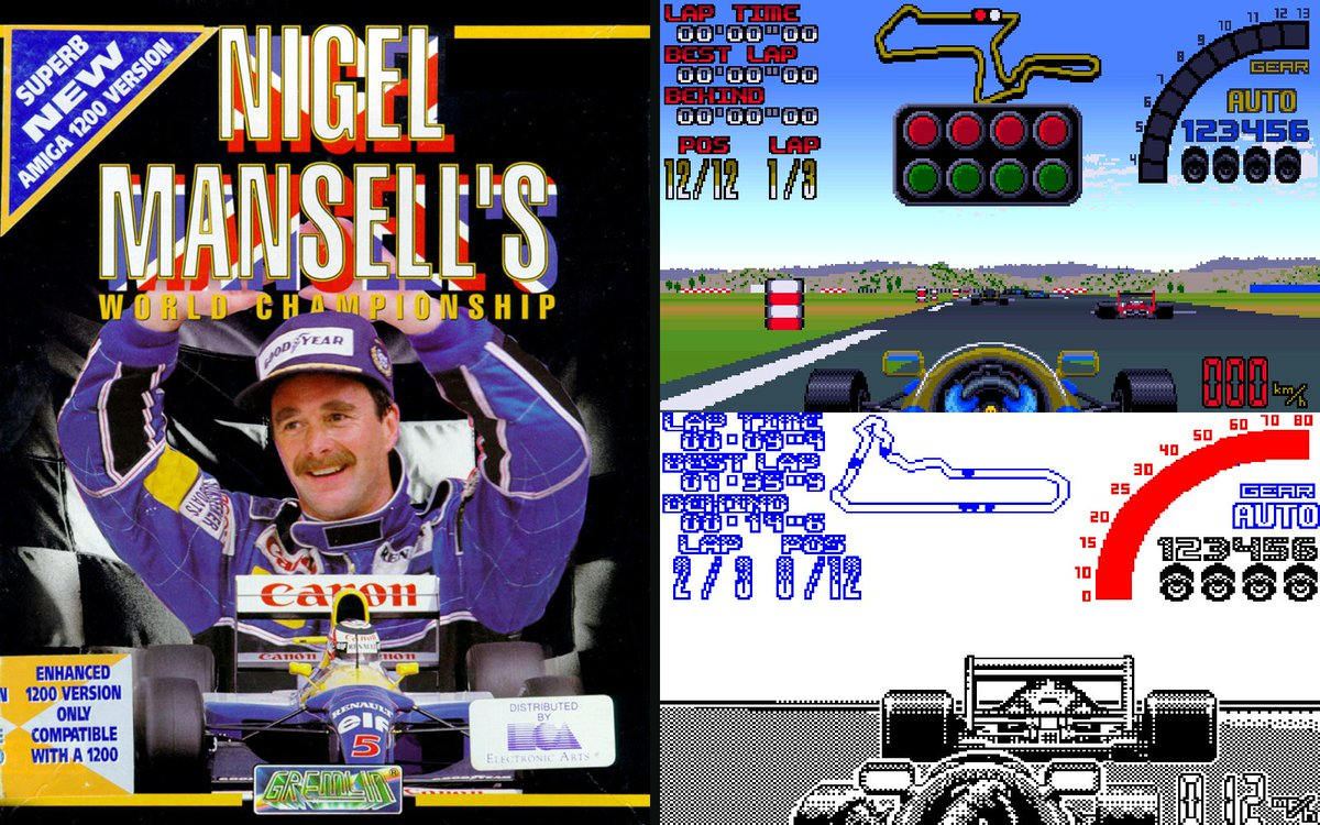 4 Box Art Covers from #gremlin 1992  Nigel Mansell's World Championship Racing - 1992 Lotus III - 1992 Plan 9 From Outer Space - 1992 Videokid - 1992  #zxspectrum #snes #sinclair #c64retweets #c64 #retrogaming #retrogames #retrogamer #90s #amiga500 #amiga1200 #atarist #boxart pic.twitter.com/uYop8mnTq8