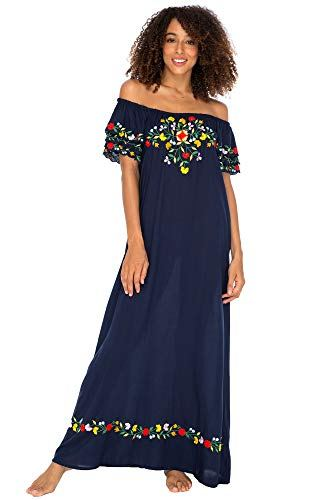 Back From Bali Womens Off Shoulder Long Mexican Embroidered Dress Maxi Boho Floral Summer PeasantDress https://compareanythingnow.com/back-from-bali-womens-off-shoulder-long-mexican-embroidered-dress-maxi-boho-floral-summer-peasant-dress/…pic.twitter.com/6Sdheto258