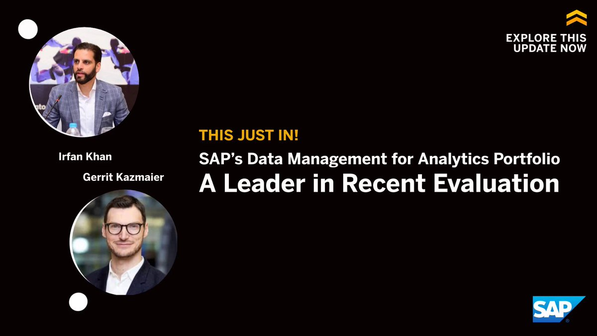 SAP is in a unique position to bring data and analytics closer together than ever before.  @i_kHANA and @gerritkazmaier explain the powerful capabilities of SAP's Business Technology Platform: http://sap.to/60131lMCJ