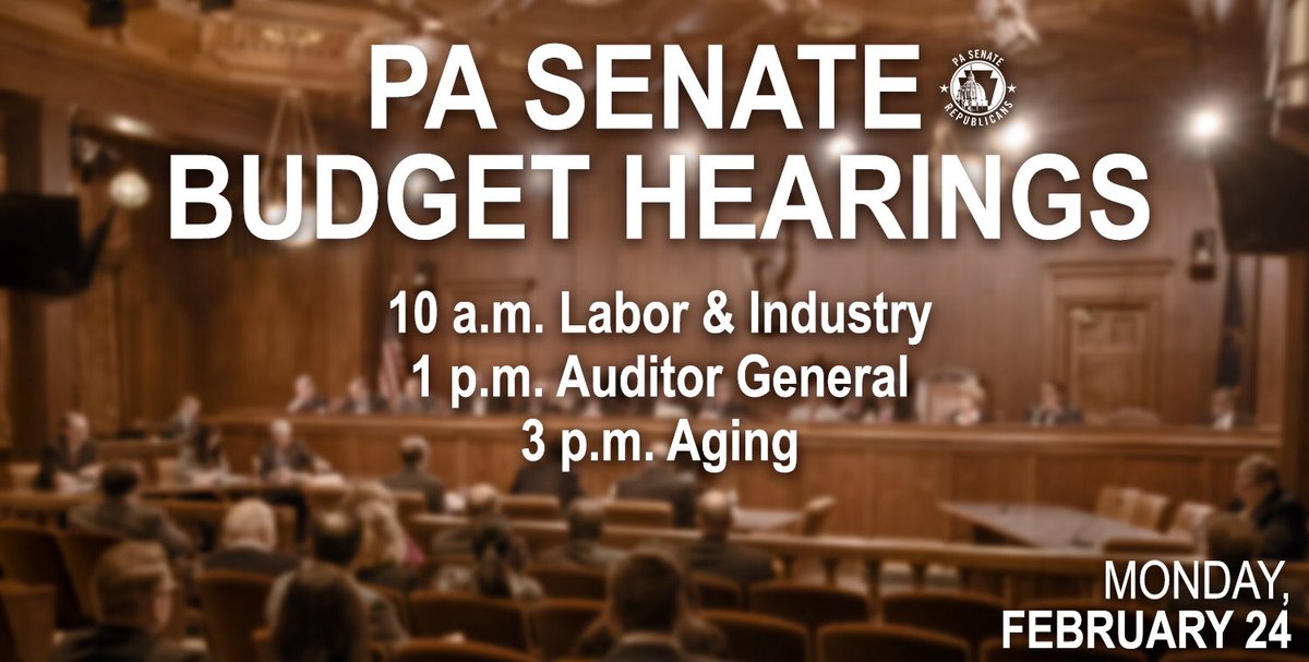 Watch live or later at pasenategop.com #PASenate #pabudget