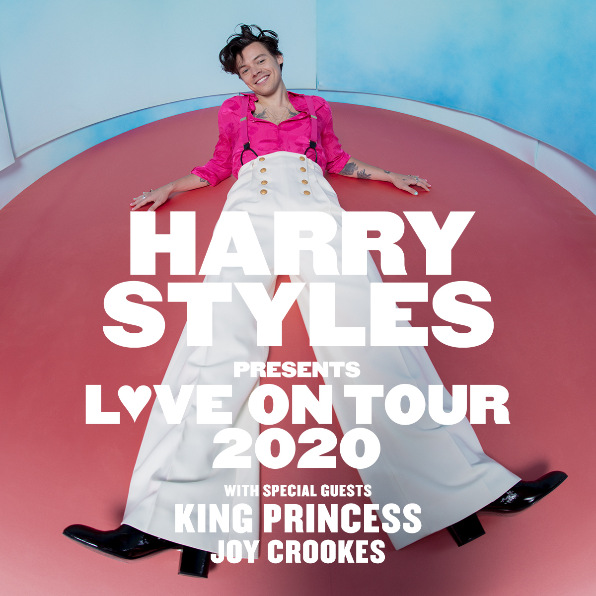 LOVE ON TOUR 2020.  Additional UK Support from @joycrookes (April 19, 22, 25 & 26) and @SWIM_DEEP (April 23).