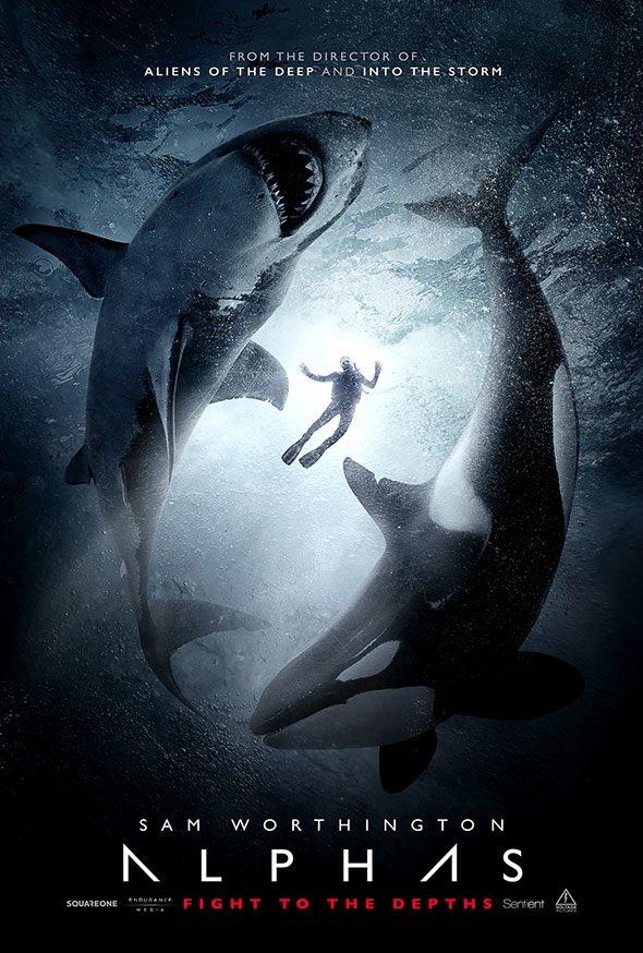 「街を襲うホホジロザメの群れに立ち向かえるのは、かつて調教師を襲って隔離された手負いのシャチだけだった」っていう設定を考えた時点で既に勝利している海洋パニックスリラー『Alphas』のポスターが遂に来ましたよ!!!!!!