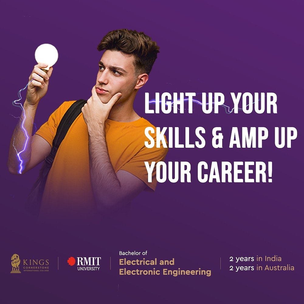 Gain hands-on skills with a professionally accredited electrical and electronic degree and avail employment in a lot of emerging fields with Kings Cornerstone! #kingscornerstone  #cornerstone #engineeringcollege #rmituniversity #managementstudies #abroadstudies pic.twitter.com/OgplilAQce