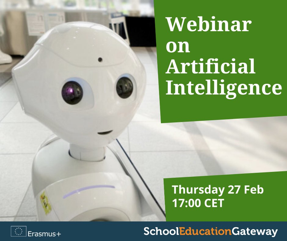 Artificial intelligence has the potential to revolutionise #education, but how do we balance opportunity and risk? Join this #EdGateway webinar to learn more about #AI in school. 🗓️ 27 Feb, 17H CET schooleducationgateway.eu/en/pub/teacher… #EUDigital #EdTech @EUErasmusPlus