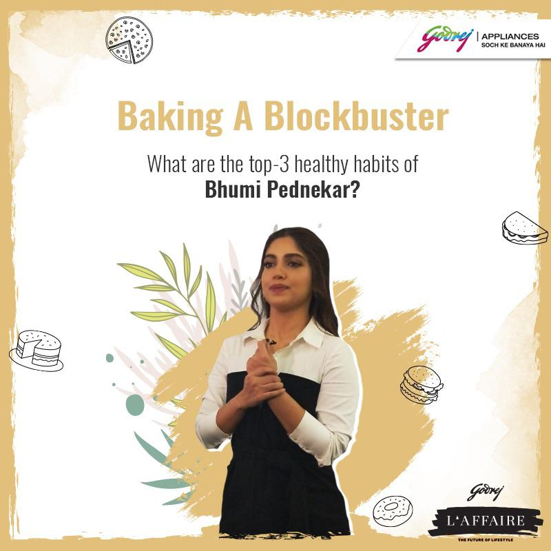 #ContestAlert! (1/3) Answer these questions and stand a chance to win exciting vouchers!  Watch @bhumipednekar Bake A Blockbuster @godrejlaffaire here: http://bit.ly/3c6hvc7  #StartAHealthyHabit