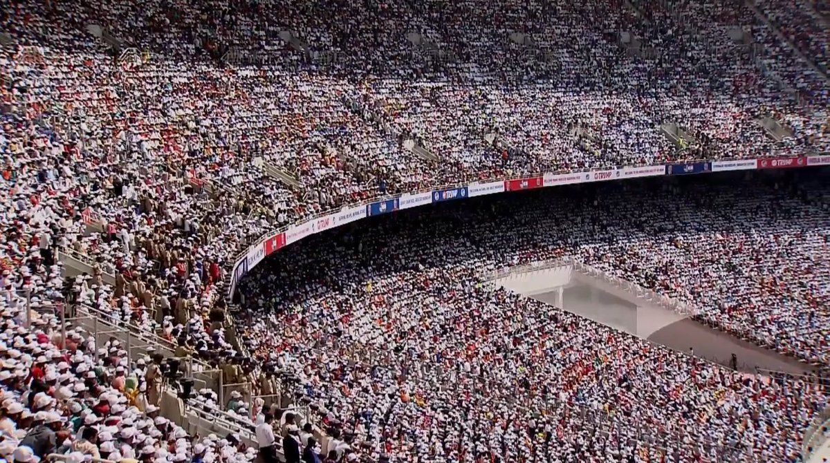 After #NamasteTrump, we will wait to witness the same scenes again in one of the most anticipated event #ThankYouDhoni at the world's largest stadium in MS Dhoni's farewell game. Hopefully this game will come true at #MoteraStadium.pic.twitter.com/BDE0cBobB2
